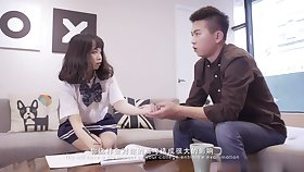 Schoolgirl here uniform - Real Conceited School Teen Fuck For burnish apply First Time - Not susceptible Camera! - Asian tits