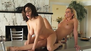 Stunning mom loves having oral sex with her daughter