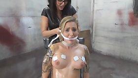 Naughty Blond Teem Lady Babe Engaged In A Bondage