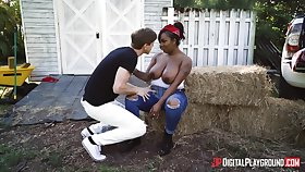 Big black main Layton Benton fucked by a white guy in outdoors