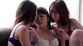AYA KISAKI & SHINO AOI & AYUMI KUROKI - THREESOME INTENSE KISSING AND Lovemaking