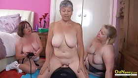 OldNannY Three British Matures increased by Sex Tackle