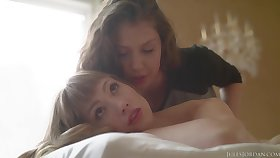 Elena Koshka and Ivy Wolfe can mewl stop making love with everlastingly other, in a massage room