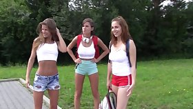 Antonia Sainz invited her girlfriends around go have some fun on the river