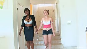 Interracial lesbian sex between amateurs Coco Pink together with Jodie Taylor