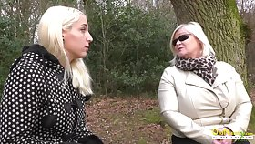 Mature lady with big natural boobs enjoying pussy licking with blonde lesbian